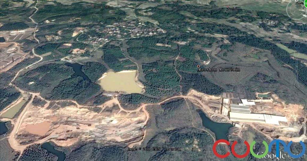 故土化州江湖茅山村地貌破坏形成大深坑