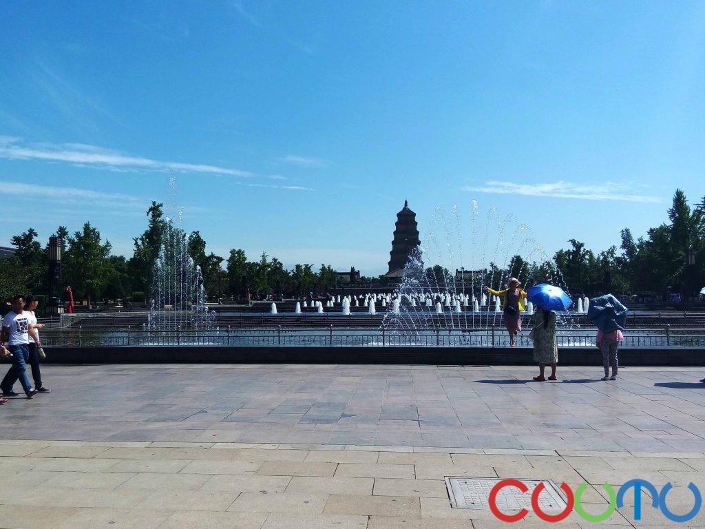西安大雁塔喷泉广场北